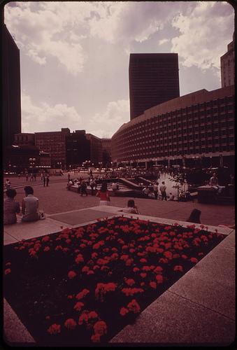 boston city hall plaza 1973